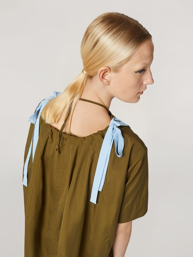 Marni Shirt in cotton poplin with drawstring crewneck Woman - 4