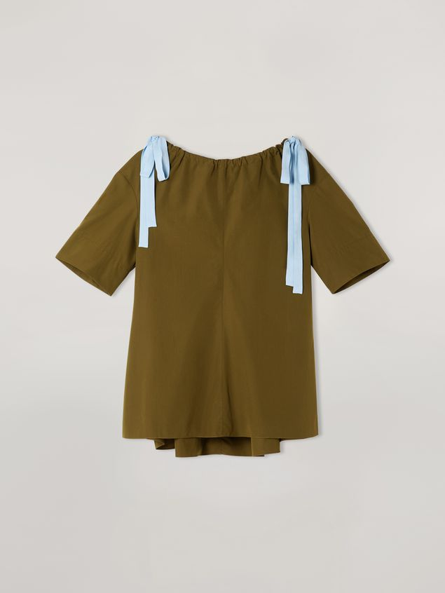 Marni Shirt in cotton poplin with drawstring crewneck Woman - 2