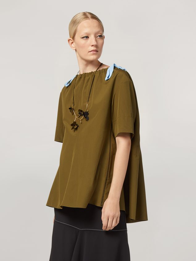 Marni Shirt in cotton poplin with drawstring crewneck Woman - 1
