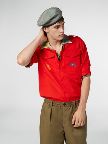 Marni Camicia in popeline con alamari Uomo f