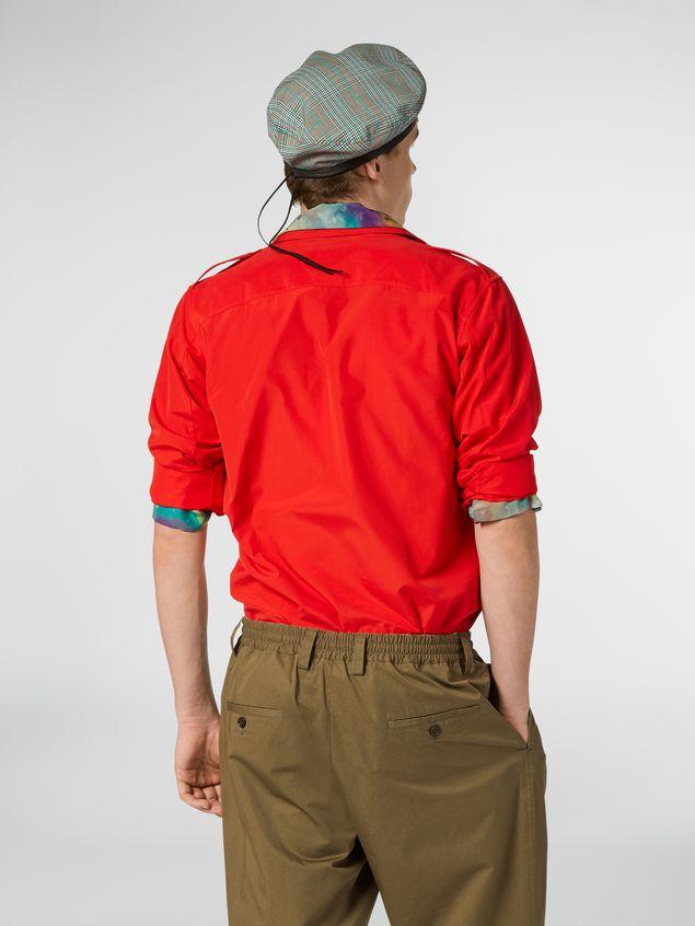 Marni Poplin shirt with epaulette Man