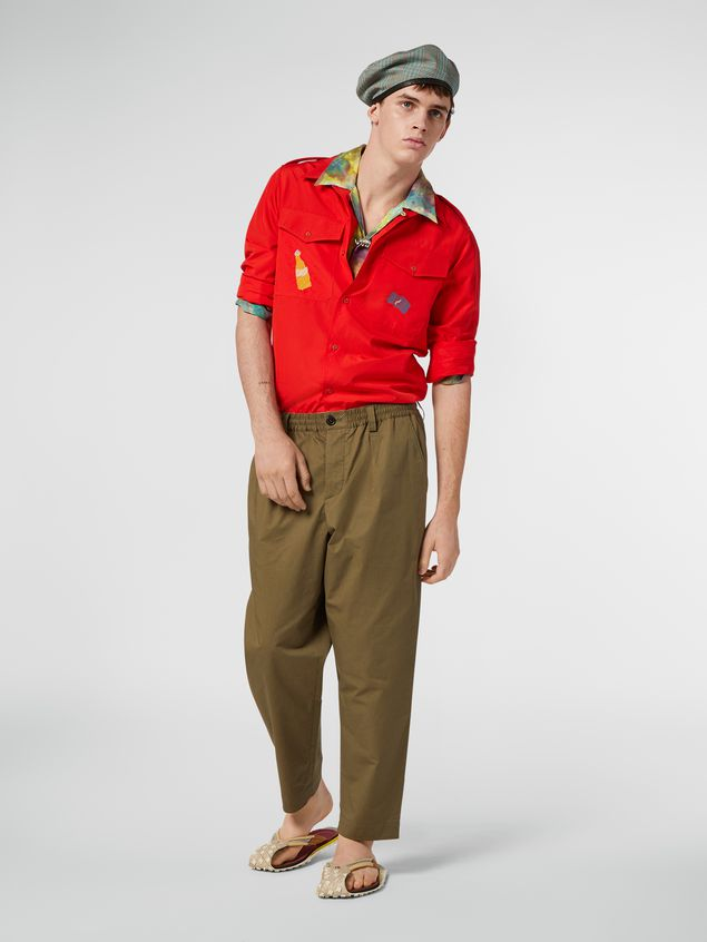 Marni Poplin shirt with epaulette Man - 5