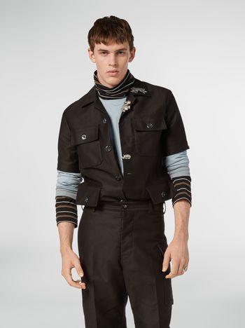 Marni Hemd aus technischer Baumwollgabardine mit 4 Taschen Herren f
