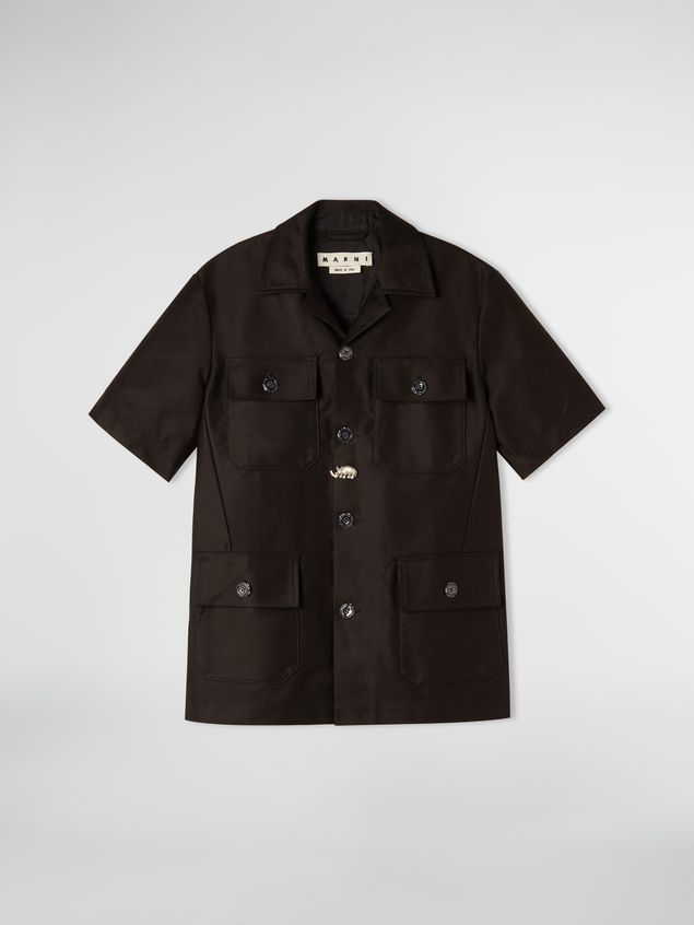 Marni 4-pocket shirt in poly cotton gabardine Man - 2