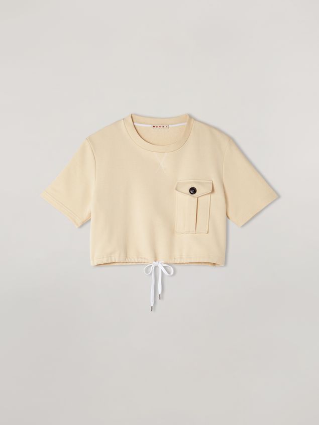 Marni Sweatshirt in compact cotton with bottom drawstring Woman - 2