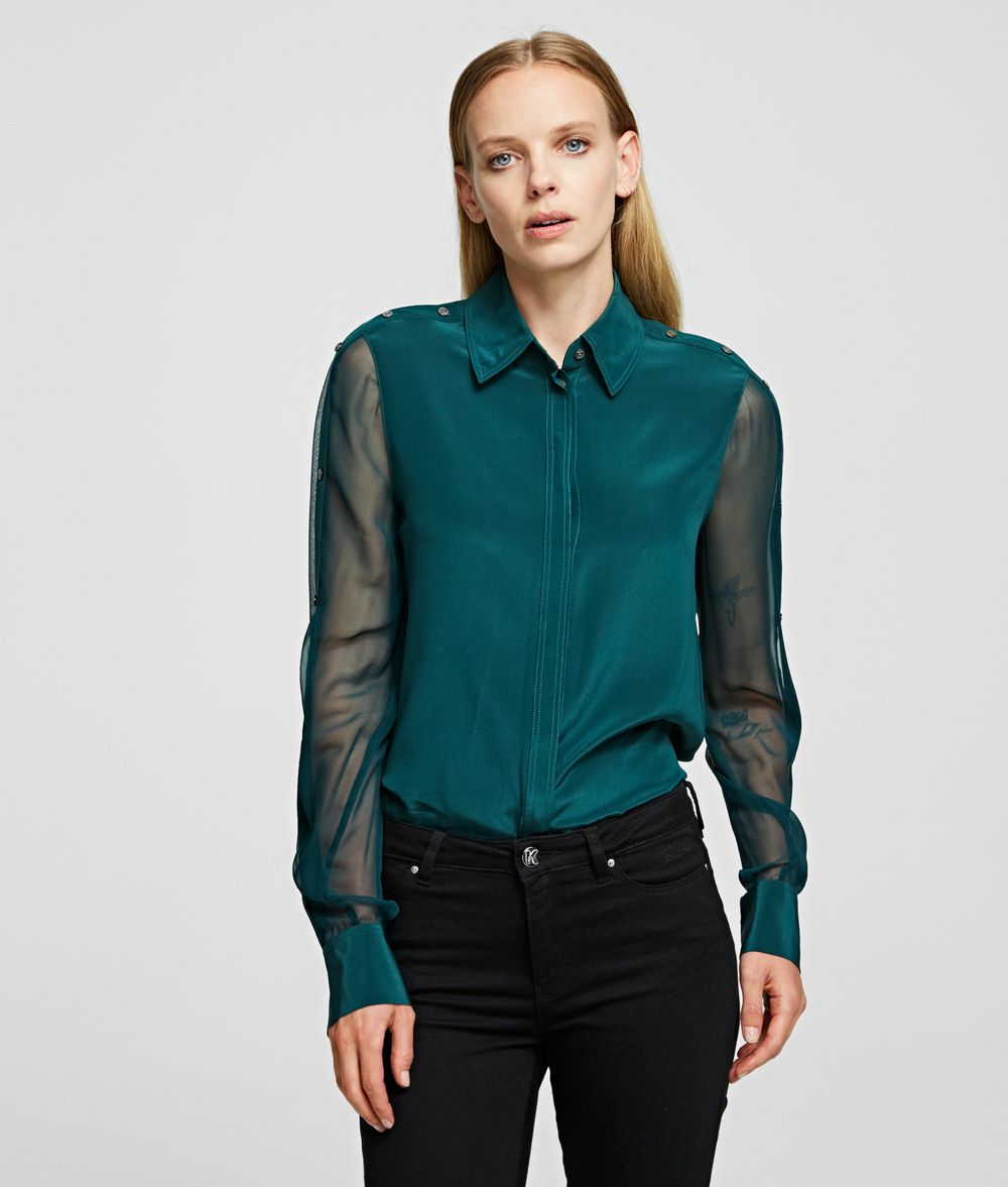 KARL LAGERFELD Silk Shirt Blouse Woman f