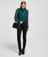 KARL LAGERFELD Silk Shirt 9_f