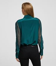 KARL LAGERFELD Silk Shirt Blouse Woman e
