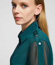 KARL LAGERFELD Silk Shirt Blouse Woman r