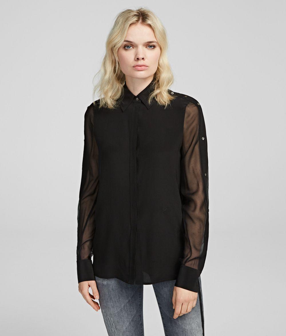 KARL LAGERFELD Silk Shirt Blouse Woman f