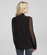 KARL LAGERFELD Silk Shirt Blouse Woman a