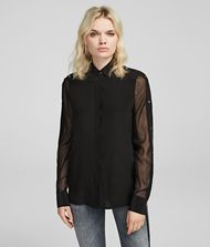 KARL LAGERFELD Blouse Woman Silk Shirt f