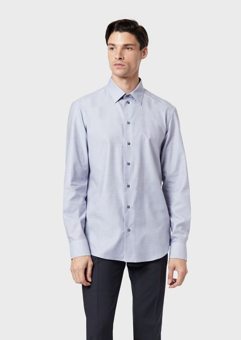 Melange cotton shirt