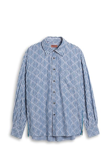 MISSONI Shirt Blue Man - Back
