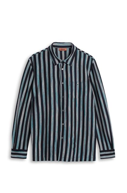 MISSONI Shirt Dark blue Man - Back