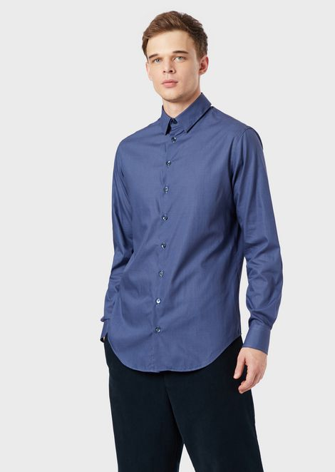 Camisa regular fit de algodón