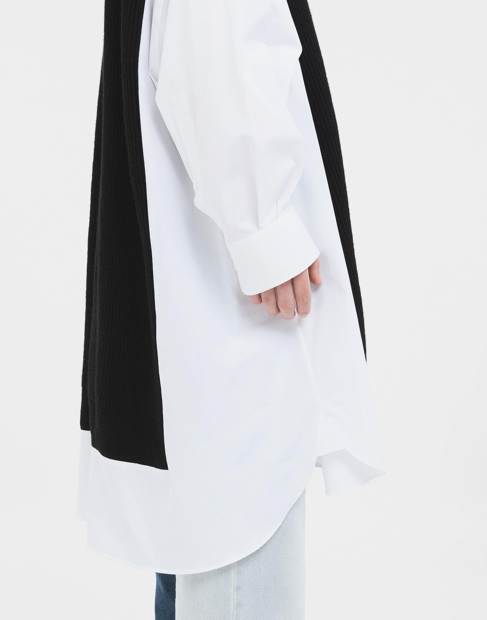 MAISON MARGIELA Camicia Spliced con pannelli in maglia Camicia maniche lunghe Donna b