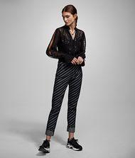 KARL LAGERFELD Leopard Jacquard Shirt 9_f