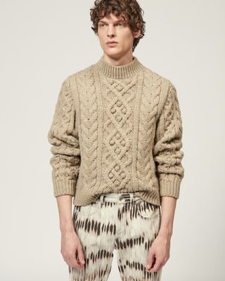 ISABEL MARANT LONG SLEEVE JUMPER Man MACEY JUMPER r