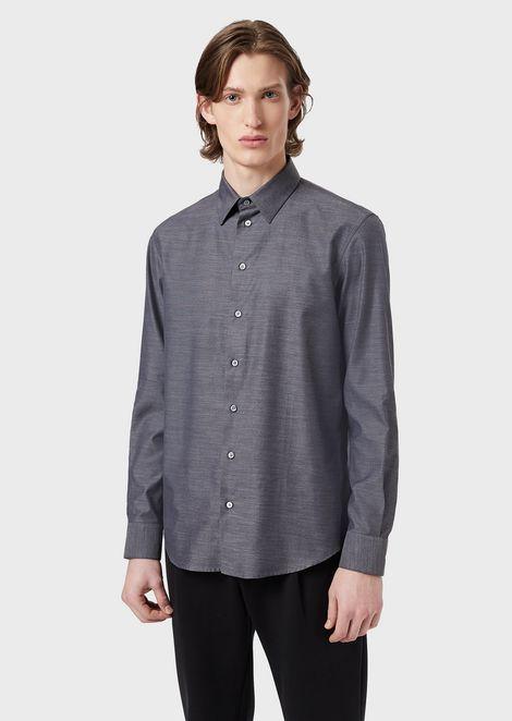 Melange cotton shirt