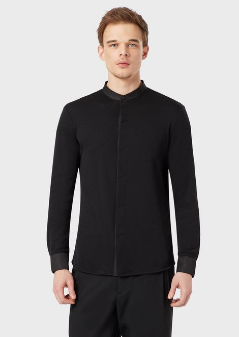 Pure cashmere interlock shirt