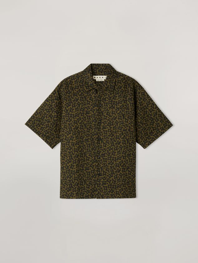 Marni Shirt in cotton and linen drill Camo Cells print Man - 2