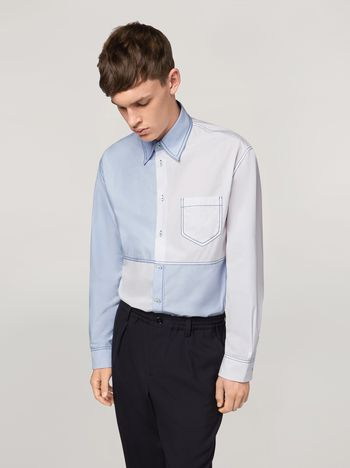 Marni Patchwork shirt in cotton Man f