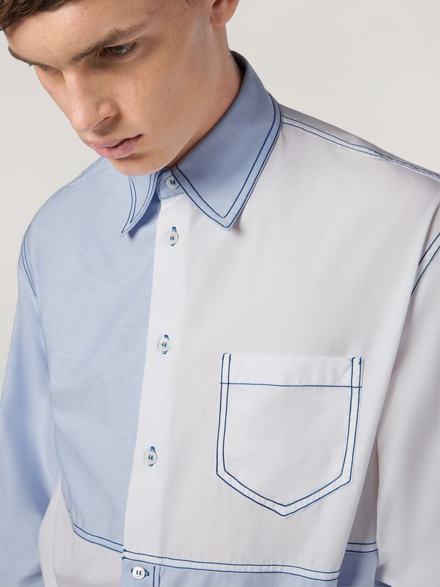 Marni Patchwork shirt in cotton Man - 4