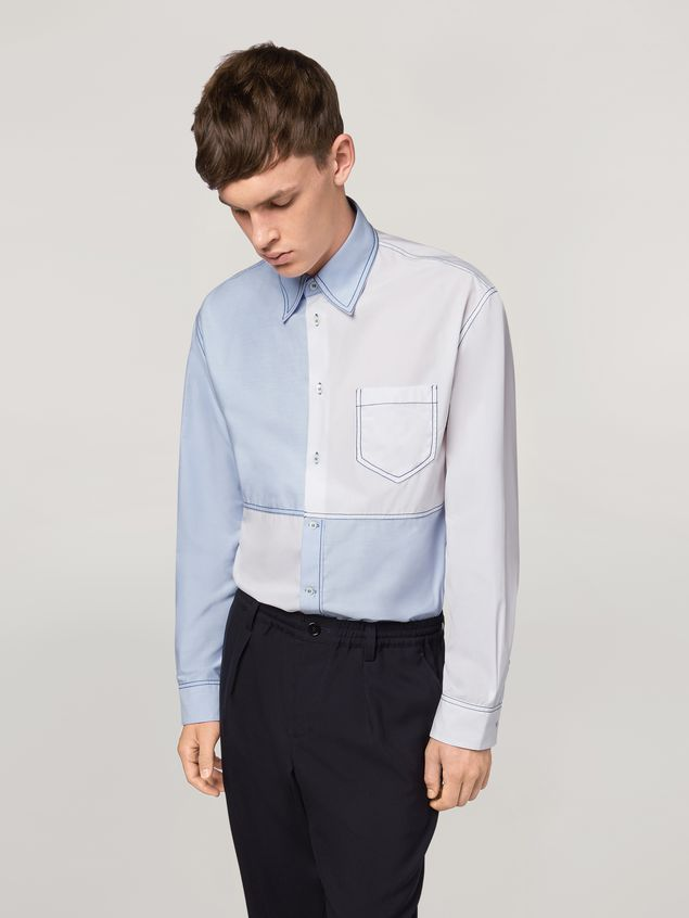Marni Patchwork shirt in cotton Man - 1
