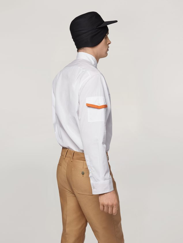 Marni Shirt in cotton with jersey contrast detailing Man