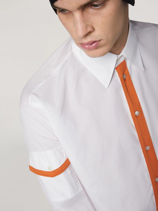Marni Shirt in cotton with jersey contrast detailing Man - 4