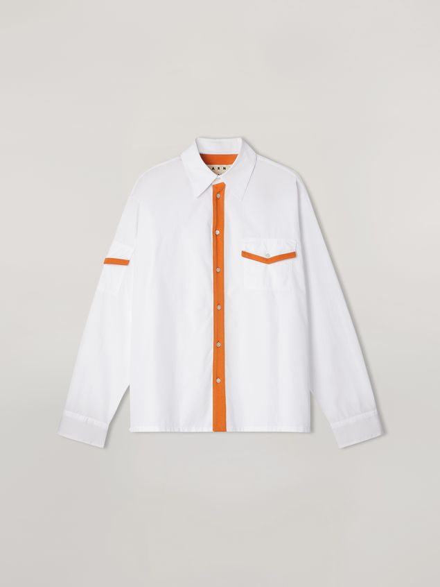 Marni Shirt in cotton with jersey contrast detailing Man - 2