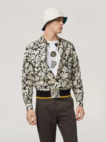 Marni Camicia in popeline di cotone stampa Eyed Leaves Uomo f