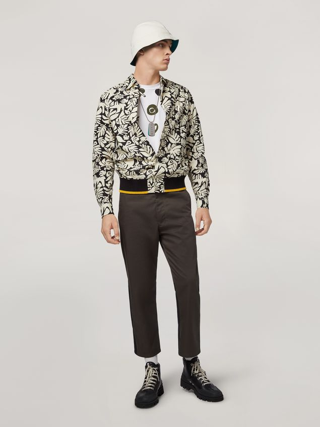 Marni Shirt in cotton poplin Eyed Leaves print Man - 5