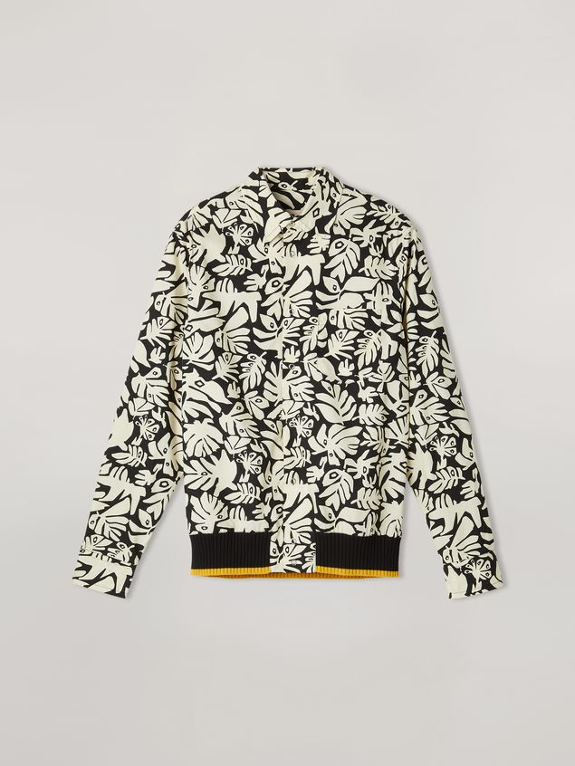 Marni Shirt in cotton poplin Eyed Leaves print Man - 2