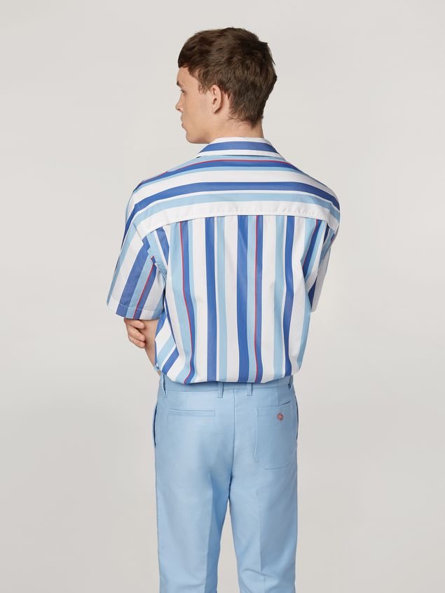 Marni Shirt in yarn-dyed striped cotton poplin Man