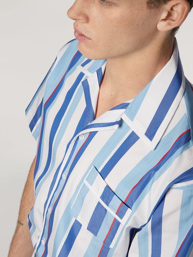 Marni Camicia in popeline di cotone rigato tinto filo Uomo - 4