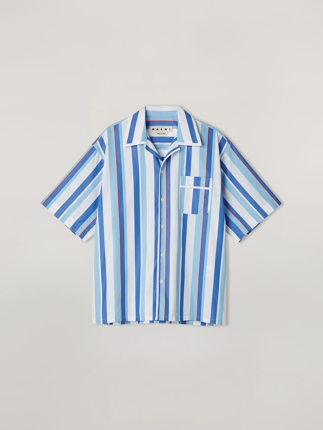 Marni Shirt in yarn-dyed striped cotton poplin Man - 2