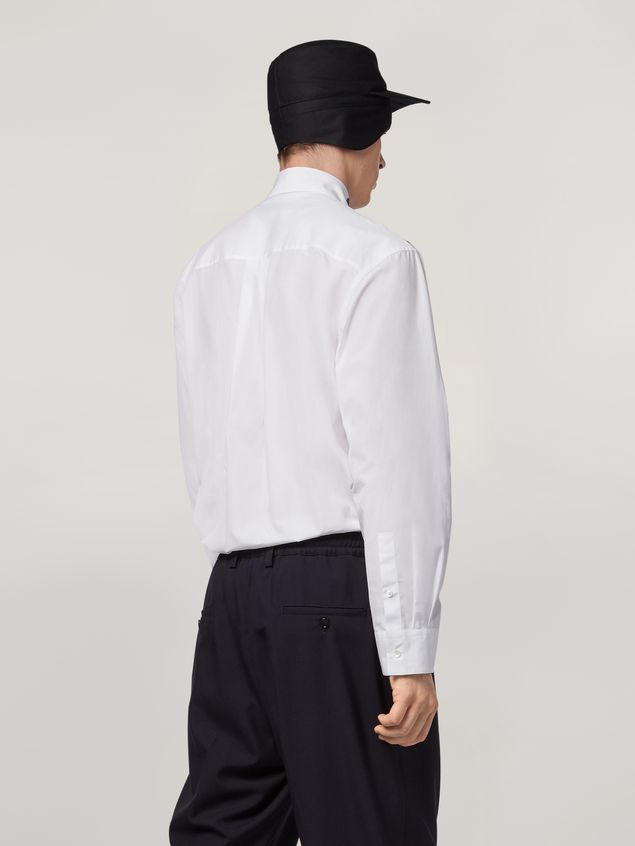 Marni Shirt in cotton poplin with placed prints Man