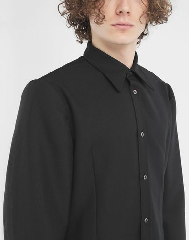 SHIRTS Oversized sleeves shirt Black