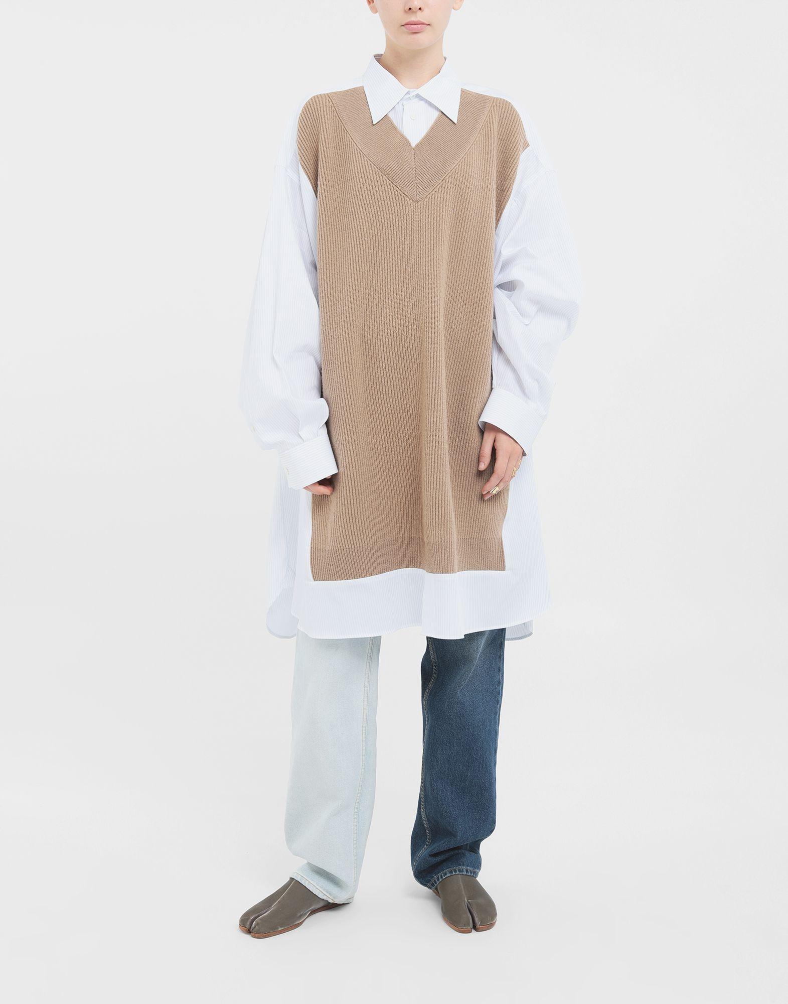 MAISON MARGIELA Spliced Oversize-Hemd Langarmhemd Damen d
