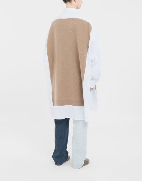 MAISON MARGIELA Spliced Oversize-Hemd Langarmhemd Damen e