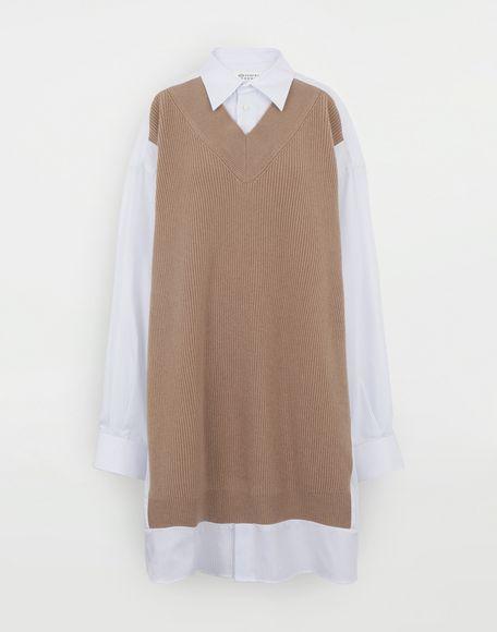 MAISON MARGIELA Spliced Oversize-Hemd Langarmhemd Damen f