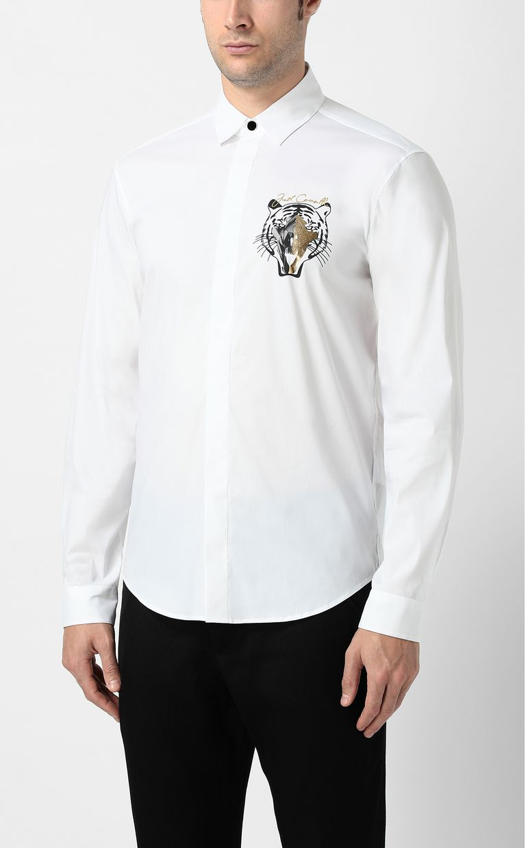 JUST CAVALLI Shirt with tiger Long sleeve shirt Man r