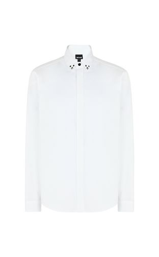 White shirt with stud details