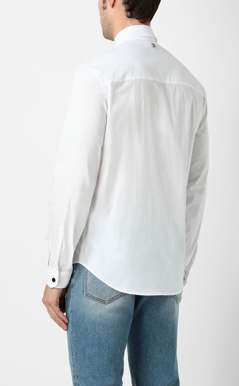 JUST CAVALLI White shirt with stud details Long sleeve shirt Man a