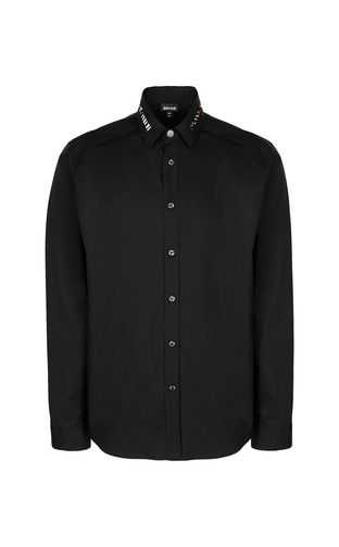 Black shirt with animal pattern