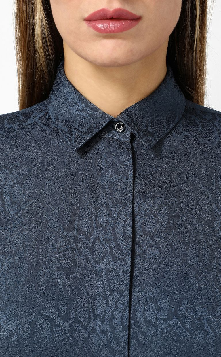 JUST CAVALLI Shirt with leopard-spot print Long sleeve shirt Woman e