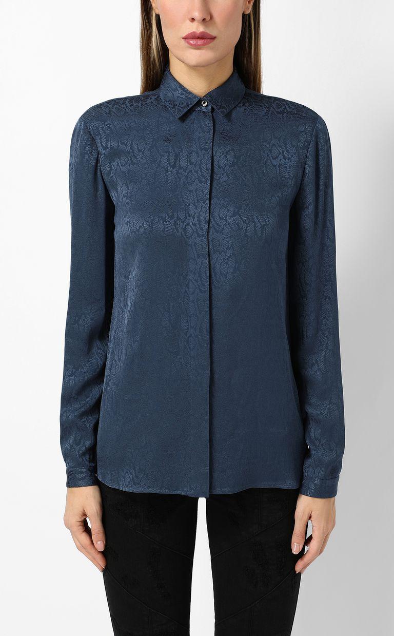 JUST CAVALLI Shirt with leopard-spot print Long sleeve shirt Woman r