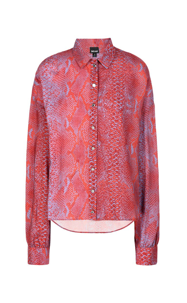JUST CAVALLI Python-print blouse Long sleeve shirt Woman f
